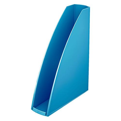 Лоток вертикальный ESSELTE Leitz WOW 75x312x258, полистирол, синий металлик [52771036]