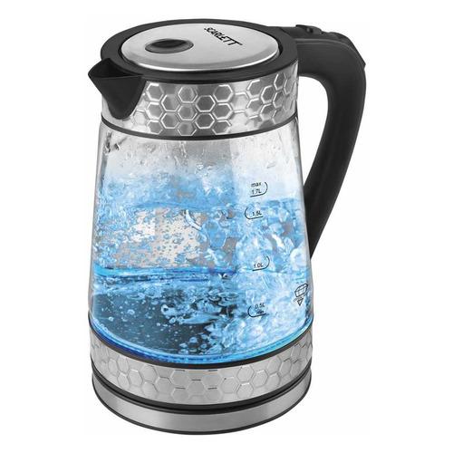 Чайник электрический SCARLETT SC-EK27G58, 2200Вт, сталь цена и фото