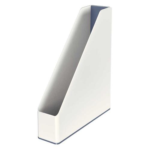 Лоток вертикальный ESSELTE Leitz WOW 73x318x272, полистирол, белый / серый [53621001]