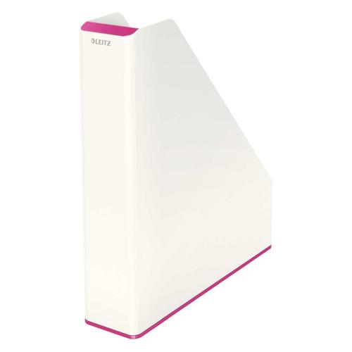 Лоток вертикальный ESSELTE Leitz WOW 73x318x272, полистирол, розовый металлик / белый [53621023]