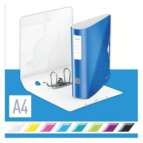 Папка-регистратор Esselte Leitz WOW 11060036 A4 82мм полифом синий