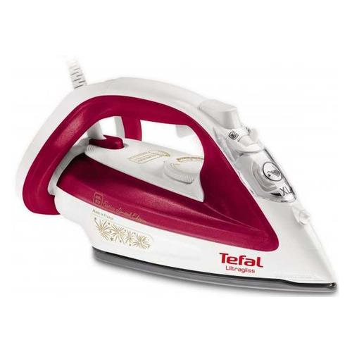 цена на Утюг TEFAL FV4912E0, 2400Вт, белый/ красный [1830007022]