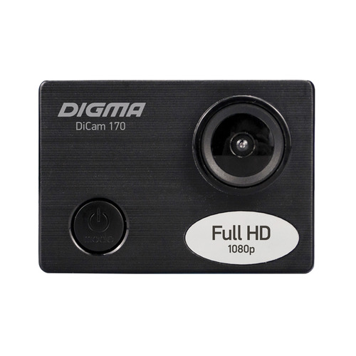 Фото - Экшн-камера DIGMA DiCam 170 1080p, черный [dc170] боковое крепление на шлем side mount для экшн камер xiaomi yi