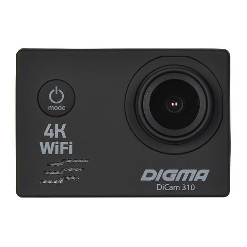 Экшн-камера DIGMA DiCam 310 4K, WiFi, черный [dc310]