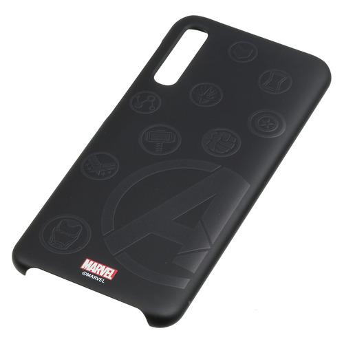 Чехол (клип-кейс) SAMSUNG Marvel Case Avengers4, для Samsung Galaxy A50, черный [gp-fga505hibjw]