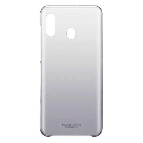 Чехол (клип-кейс) SAMSUNG Gradation Cover, для Samsung Galaxy A20, черный [ef-aa205cbegru] baseus раз думающие samsung galaxy s8 плюс телефон оболочки защитный рукав тонкий твердый черный цвет
