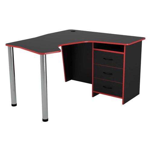 Стол игровой ВИТАЛ-ПК Саппорт правый, угловой, ЛДСП, черный
