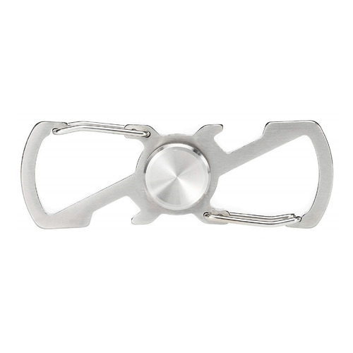 Карабин Munkees Spinner (2520) серебристый сталь (доп.ф.:спиннер)