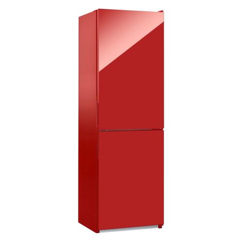 Холодильник NORDFROST NRG 119 842, двухкамерный, красное стекло [00000256617] двухкамерный холодильник норд nrg 119 542 золотистое стекло