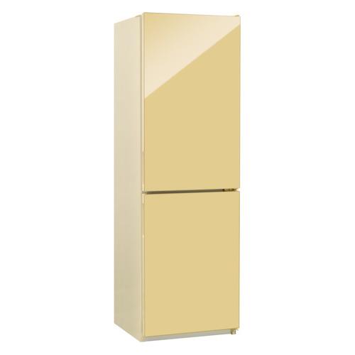 Холодильник NORDFROST NRG 119 742, двухкамерный, бежевый стекло [00000256616] двухкамерный холодильник норд nrg 119 542 золотистое стекло