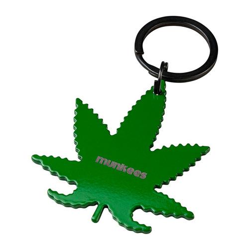 Брелок Munkees Конопляный лист (35405) зеленый сталь (доп.ф.:открывашка)