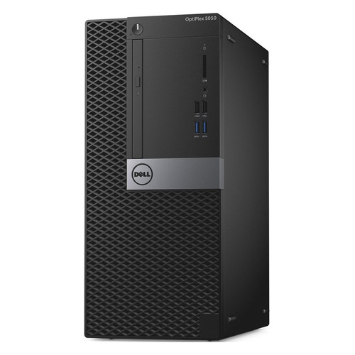 Компьютер DELL Optiplex 5050, Intel Core i5 6400, DDR4 4Гб, 500Гб, Intel HD Graphics 530, DVD-RW, Linux Ubuntu, черный и серебристый [5050-1093] dell optiplex 5050 core i5 7500 8gb 1tb 16gb ssd dvd kb m win10 pro 5050 6988