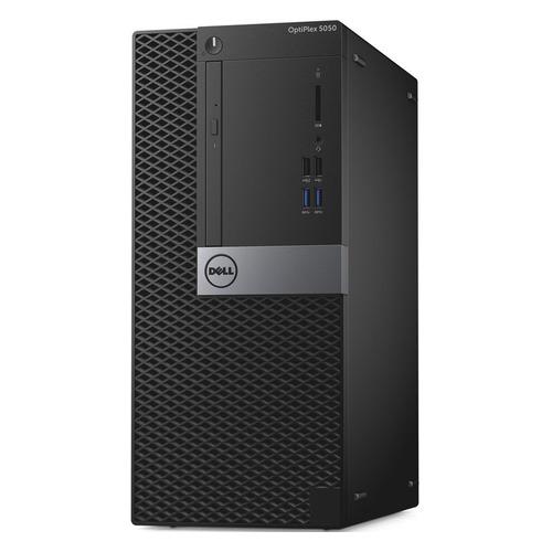 Компьютер DELL Optiplex 5050, Intel Core i5 6400, DDR4 4Гб, 500Гб, Intel HD Graphics 530, DVD-RW, Linux Ubuntu, черный и серебристый [5050-1093] компьютер
