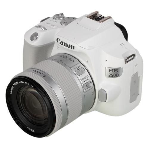 цена на Зеркальный фотоаппарат CANON EOS 250D kit ( EF-S 18-55mm f/1:4-5.6 IS STM), белый