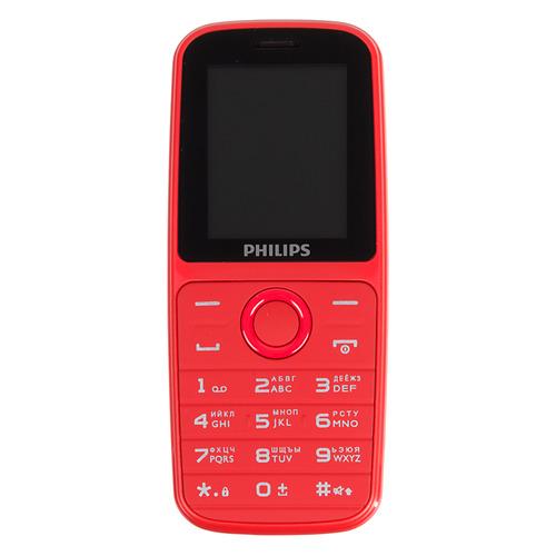 Мобильный телефон PHILIPS Xenium E109, красный мобильный телефон philips xenium e331 brown