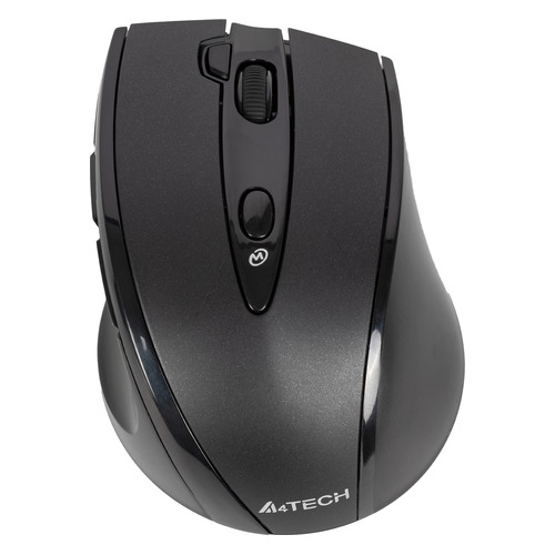 Мышь A4 V-Track G10-770F, оптическая, беспроводная, USB, черный [g10-770f (black)] мышь a4 v track g10 770f черный