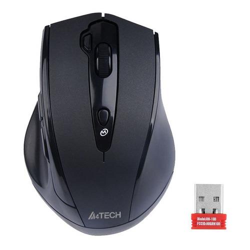 Мышь A4 V-Track G10-810FS, оптическая, беспроводная, USB, черный мышь беспроводная hp 200 silk золотистый чёрный usb 2hu83aa