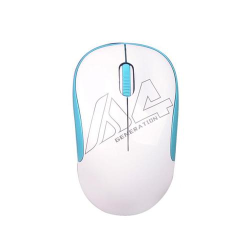 лучшая цена Мышь A4 V-Track G3-300N, оптическая, беспроводная, USB, белый и голубой [g3-300n (white+blue)]