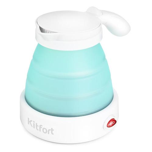 Фото - Чайник электрический KITFORT КТ-667-2, 1150Вт, голубой чайник электрический kitfort кт 667 1 1150вт белый