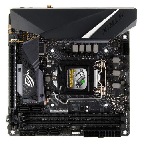 Материнская плата ASUS ROG STRIX B360-I GAMING, LGA 1151v2, Intel B360, mini-ITX, Ret материнская плата asus strix z270h gaming lga 1151 intel z270 atx ret