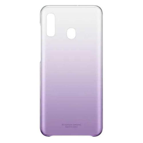 Чехол (клип-кейс) SAMSUNG Gradation Cover, для Samsung Galaxy A20, фиолетовый [ef-aa205cvegru] EF-AA205CVEGRU