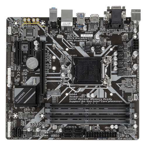 Материнская плата GIGABYTE B365M DS3H, LGA 1151v2, Intel B365, mATX, Ret gigabyte b365m ds3h
