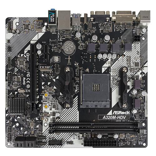 Материнская плата ASROCK A320M-HDV R4.0, SocketAM4, AMD A320, mATX, Ret материнская плата asrock fm2a68m dg3 socket fm2 amd a68h matx ret