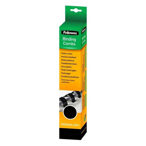 Пружина пластиковая FELLOWES CRC-53307, 8мм, 21 - 40 листов, A4, 25, черный