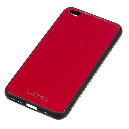 Чехол (клип-кейс) Gresso Гласс, для Xiaomi Redmi Go, красный [gr17gls213] GR17GLS213