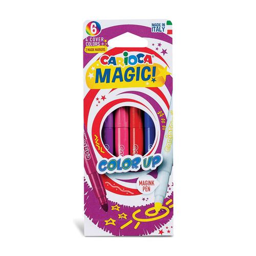Фото - Упаковка фломастеров CARIOCA Magic, 6 [43047] 24 шт./кор. краски акварельные carioca 42401 24цв 30мм кисть пл кор 6 шт кор