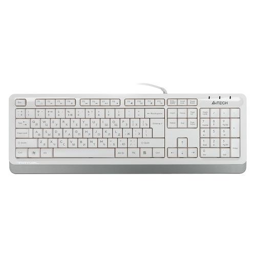 Клавиатура A4TECH Fstyler FK10, USB, белый серый [fk10 white]