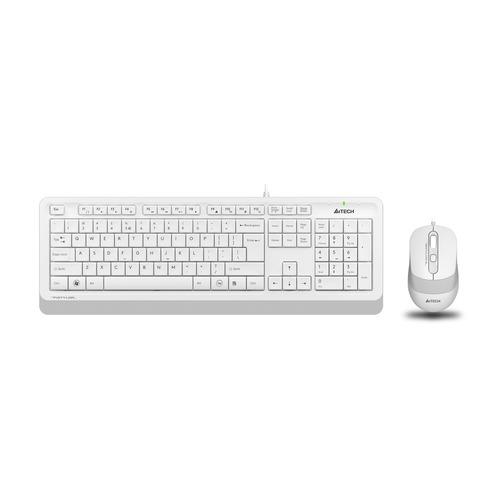 лучшая цена Комплект (клавиатура+мышь) A4 F1010, USB, проводной, белый [f1010 white]