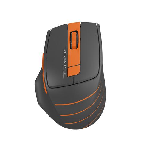 Мышь A4 Fstyler FG30, оптическая, беспроводная, USB, серый и оранжевый [fg30 orange] мышь a4tech fstyler fg30 grey orange