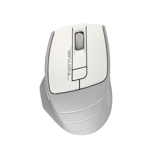 Мышь A4 Fstyler FG30, оптическая, беспроводная, USB, белый и серый [fg30 white] мышь беспроводная a4tech fstyler fg30 серый оранжевый usb