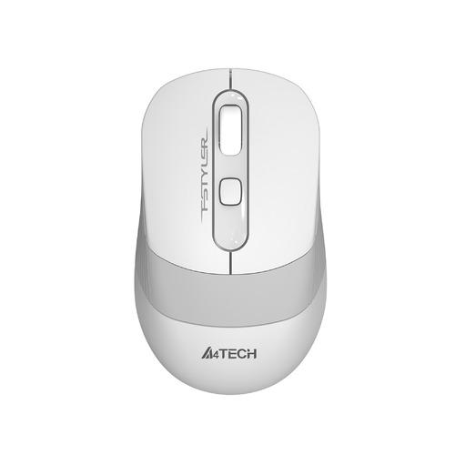 Фото - Мышь A4TECH Fstyler FG10, оптическая, беспроводная, USB, белый и серый [fg10 white] мышь a4tech fstyler fg10 черный оранжевый оптическая 2000dpi беспроводная usb 4but