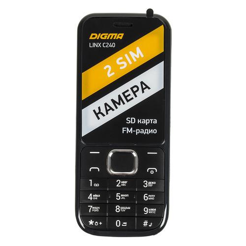 Мобильный телефон DIGMA Linx C240, черный