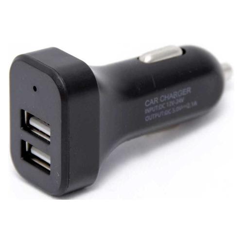 Автомобильное зарядное устройство WIIIX UCC-2-15B, 1.2A, черный автомобильное зарядное устройство wiiix с двумя usb входами цвет черный