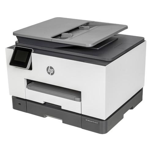 Фото - МФУ струйный HP Officejet Pro 9020 AiO, A4, цветной, струйный, белый [1mr78b] принтер струйный hp officejet pro 6230 e3e03a a4 duplex wifi usb rj 45 черный