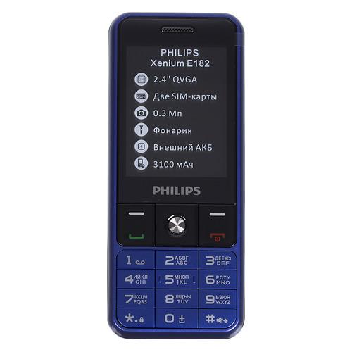 Мобильный телефон PHILIPS Xenium E182, синий мобильный телефон philips e106 черный