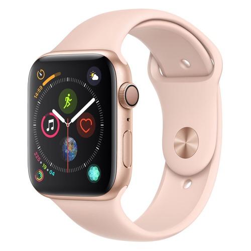 цена Смарт-часы APPLE Watch Series 4 44мм, золотистый / розовый [mu6f2/a] онлайн в 2017 году