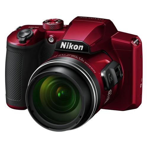 Фото - Цифровой фотоаппарат NIKON CoolPix B600, красный самокат кикборд novatrack disco kids детский 3 колесный 120sb discokids rd9 красный
