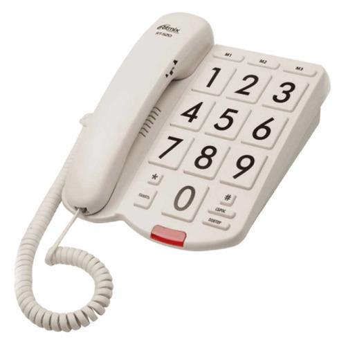 Проводной телефон RITMIX RT-520, белый проводной телефон ritmix rt 330 белый