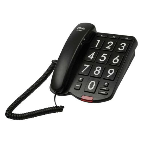 Проводной телефон RITMIX RT-520, черный проводной телефон ritmix rt 005 черный