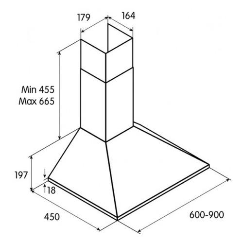 цена на Вытяжка каминная Jet Air Gaia AN/A/60 антрацит управление: кнопочное (1 мотор)