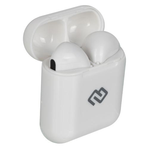 Наушники с микрофоном DIGMA TWS-10, Bluetooth, вкладыши, белый [i9s] цена и фото