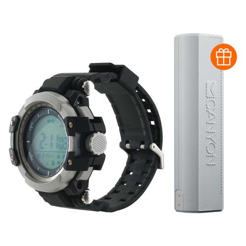 Смарт-часы CANYON CNS-SW51BB + PB, 1.2, черный/серебристый / черный [ds1cnssw51bb+pb] цена