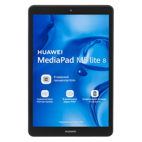 Планшет HUAWEI MediaPad M5 Lite 8, 3Гб, 32GB, 3G, 4G, Android 9.0 серый [53010hqc] цена и фото
