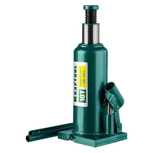Домкрат гидравлический KRAFTOOL 43462-10_z01 бутылочный, 10т домкрат гидравлический бутылочный kraftool 10т kraft lift 43462 10 z01