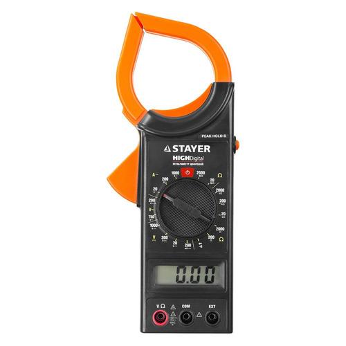 Клещи токоизмерительные STAYER 59820 токоизмерительные мини клещи cem fc 35 600в фонарик