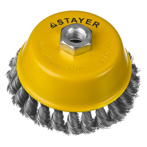 Щетка дисковая STAYER 35128-120, по металлу, 120мм, 22мм кордщетка stayer professional 35128 120